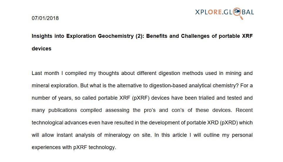 Insights into Exploration Geochemistry 2
