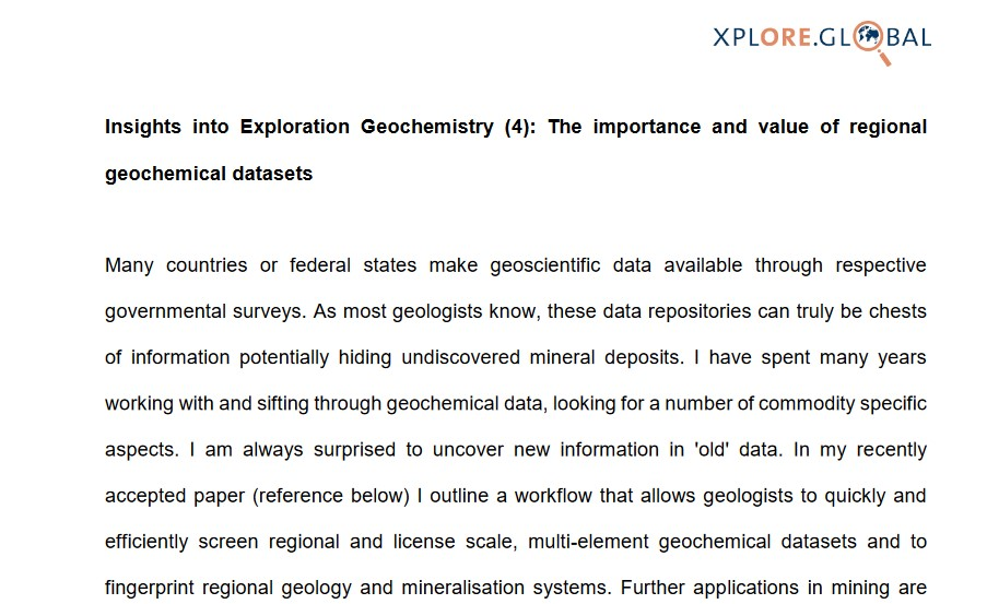 Insights into Exploration Geochemistry 4